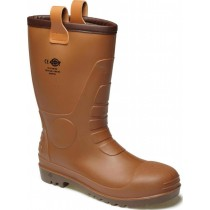 Dickies Groundwater Safety Boot (Fw13200) Brown - Size 7