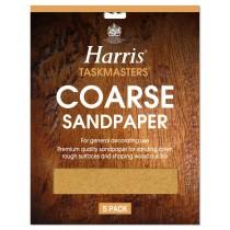 Harris Taskmasters Sand Paper - Coarse - 5 Pack