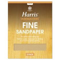 Harris Taskmasters Sand Paper - Fine - 5 Pack