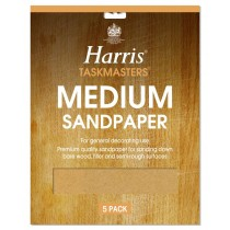Harris Taskmasters Sand Paper - Medium - 5 Pack