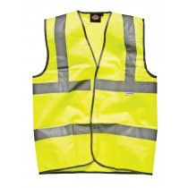 Dickies Highway Safety Waistcoat (SA22010) Yellow -  Small