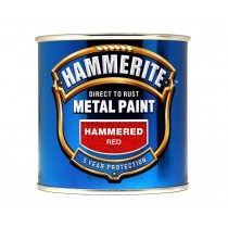 Hammerite Direct To Rust Metal Paint - Hammered Red - 250ml