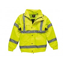 Dickies High Visibility Bomber Jacket (SA22050) Yellow -  Large