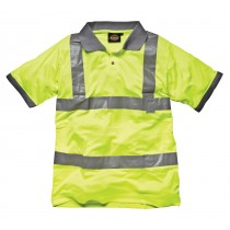 Dickies High Visibility Polo Shirt (SA22050) Yellow - Medium