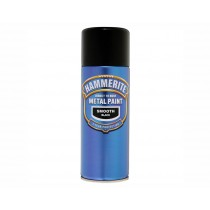 Hammerite Direct To Rust Aerosol - Smooth Black - 400ml