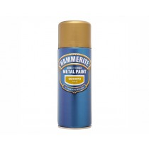 Hammerite Direct To Rust Aerosol - Smooth Gold - 400ml