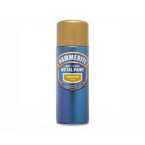 Hammerite Direct To Rust Aerosol - Smooth Gold - 400ml