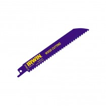 Irwin IRW10504150 Sabre Saw Blade 606R 150mm - Fast Cutting Wood - Pack of 5