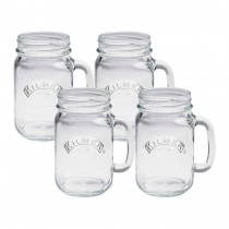 Kilner (0025.450) Handled Jars - Set of 4 - Clear