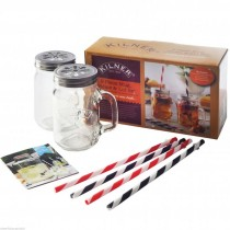 Kilner (0025.48) Mug Straw And Lid Set - 9 Piece