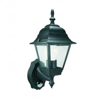 Elro (ES94) 4 Panel Coach Lantern With PIR Motion Detector - Black