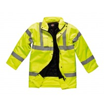 Dickies Motorway Safety Jacket (SA22045) Yellow - Large