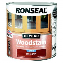 Ronseal 10 Year Woodstain - Mahogany (Satin) 2.5L