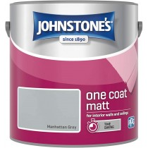 Johnstone's One Coat Matt Paint - Manhattan Grey - 2.5L
