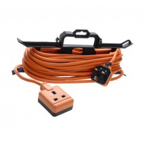 Masterplug Garden Extension Lead on H Framer - (1 Gang) 15M