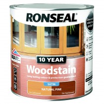 Ronseal 10 Year Woodstain - Natural Pine (Satin) 250ml