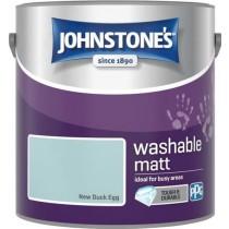 Johnstone's Washable Matt Paint - New Duck Egg - 2.5L