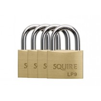 Squire LP9 Leopard Brass Padlock - 40mm - Pack of 4 Keyed Alike