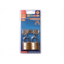 Squire LP8T Leopard Brass Padlock - 30mm - Pack of 2