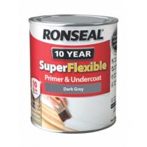 Ronseal SuperFlexible Wood Primer & Undercoat - Grey - 750ml