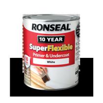 Ronseal SuperFlexible Wood Primer & Undercoat - White - 750ml