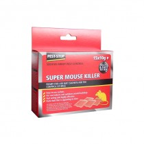 Pest Stop (PSSA04) Super Mouse Killer Sachets - 15 x 10g