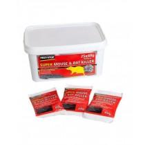 Pest Stop (PSSA02) Super Mouse & Rat Killer - 25 x 40g