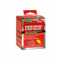 Pest Stop (PSSA03) Super Nouse & Rat Killer Starter Pack - 5 x 40g