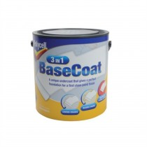 Polycell 3 in 1 Basecoat - White - 2.5L