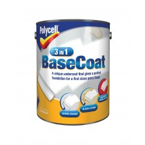 Polycell 3 in 1 Basecoat - White - 5L