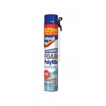 Polycell Expanding Foam Polyfilla - 825ml