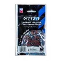 GripIt GRADKIT20 Plasterboard Radiator Hanging Kit - 6pc - Small
