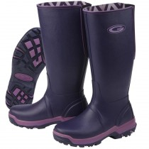Grubs Rainline Wellington Boots - Aubergine - Size 4
