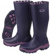 Grubs Rainline Wellington Boots - Aubergine - Size 8