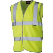Dickies Hi Vis Highway Safety Waistcoat (SA22010) Yellow - S