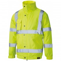 Dickies High Visibility Bomber Jacket (SA22050) Yellow -  L