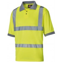 Dickies High Visibility Polo Shirt (SA22050) Yellow - M