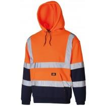 Dickies Two Tone Hi-Vis Hoodie (SA22095) Orange/Navy - XL
