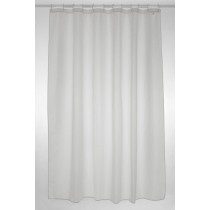 Blue Canyon SC300WH Plain Polyester Shower Curtain - White - 180 x 180xm
