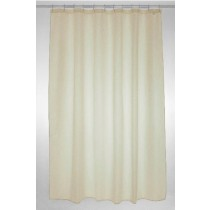 Blue Canyon SC310CR Plain Polyester Shower Curtain - Cream - 180 x 200CM