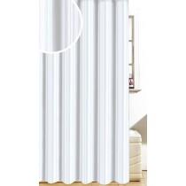 Blue Canyon SC355WH SATIN STRIPE Polyester Shower Curtain - White - 180 x 180cm