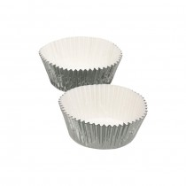 Kitchen Craft Sweetly Does It Foil Cake Cases - Silver - Pack of 24
