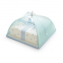 Kitchen Craft Sweetly Does It Polka Dot Umbrella Cake Cover - Green & White - 30cm
