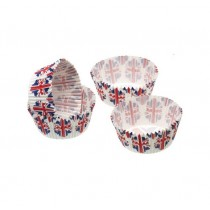 Kitchen Craft Sweetly Does It Union Flag mini Cake Cases - Pack of 80
