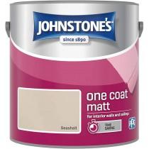 Johnstone's One Coat Matt Paint - Seashell - 2.5L