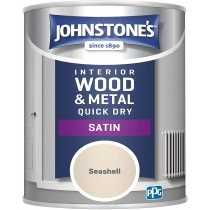Johnstone's Interior Quick Dry Satin - Seashell - 750ml
