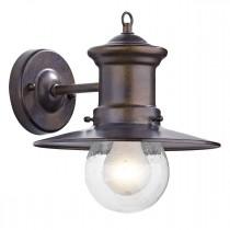 DAR SED1529 Sedgewick 1lt Lantern Down Facing Ceiling Light IP44 - Bronze