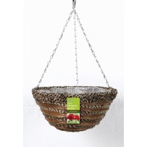 "Gardman Sisal Rope and Fern Hanging Basket - 35cm (14"")"