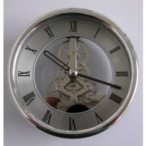 Turners Retreat SKMVTS1 Skeleton Clock - Silver - 120mm