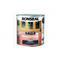 Ronseal 10 Year Woodstain - Smoked Walnut (Satin) 250ml